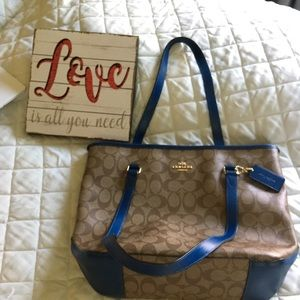 🆕 Listing 💙 Coach Med Sig Top Zip City Tote